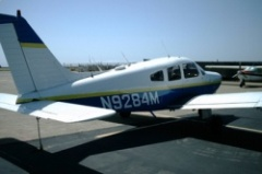 N9284M, the Warrior I am currently flying in training.